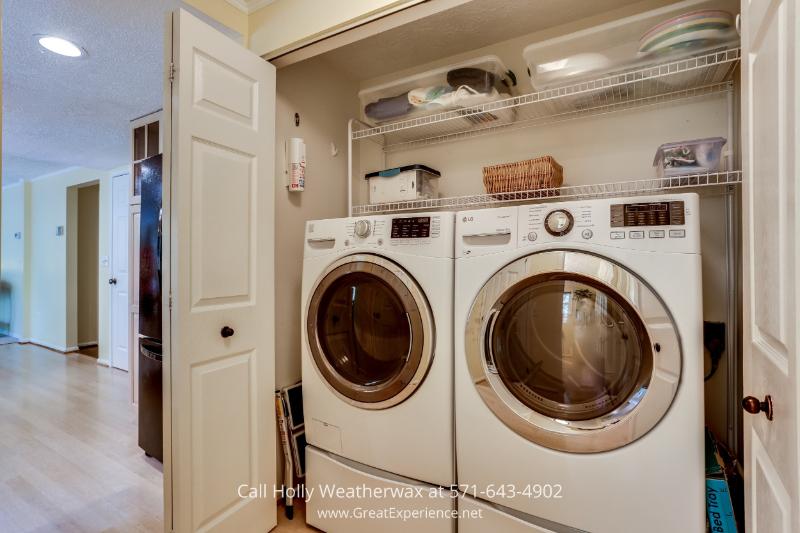 Real Estate Property for Sale in Reston VA - Laundry Area