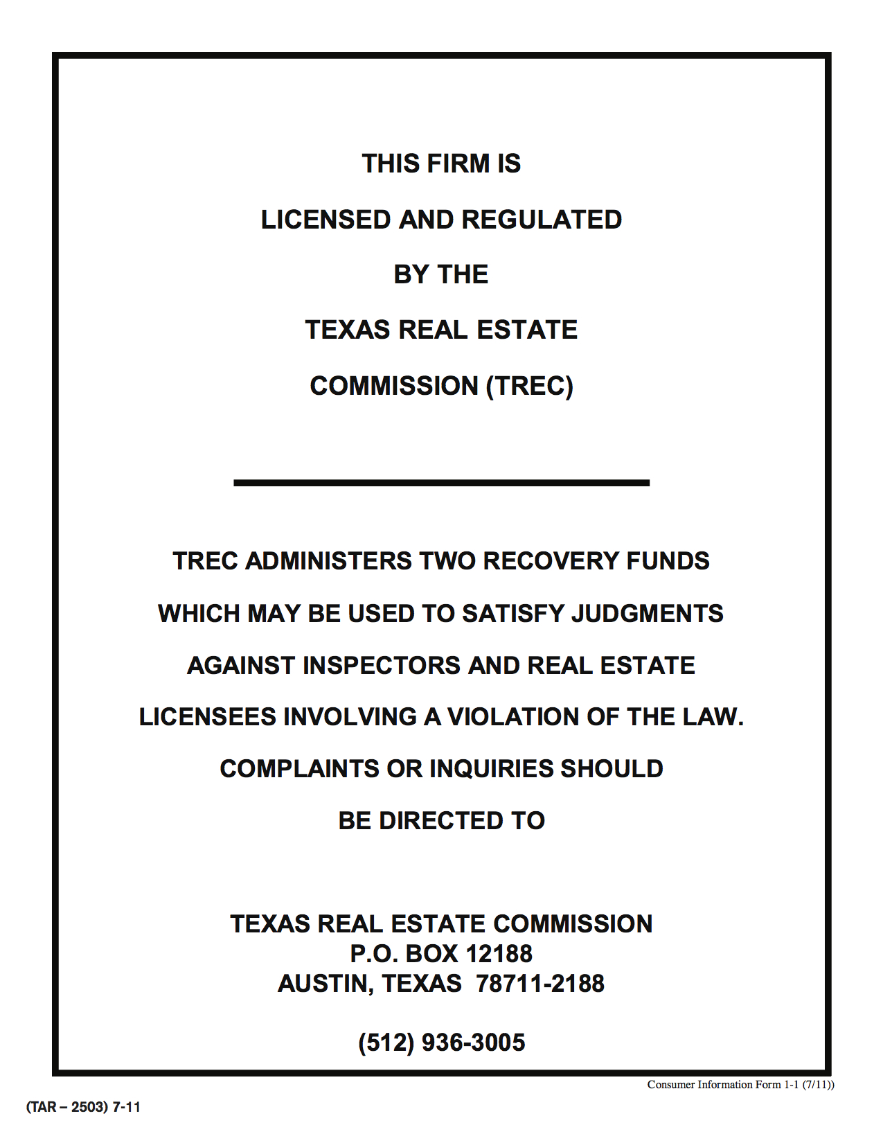 trec consumer information form 1 1 hobit fullring co Leasing Assistant Resume Template about robles real estate