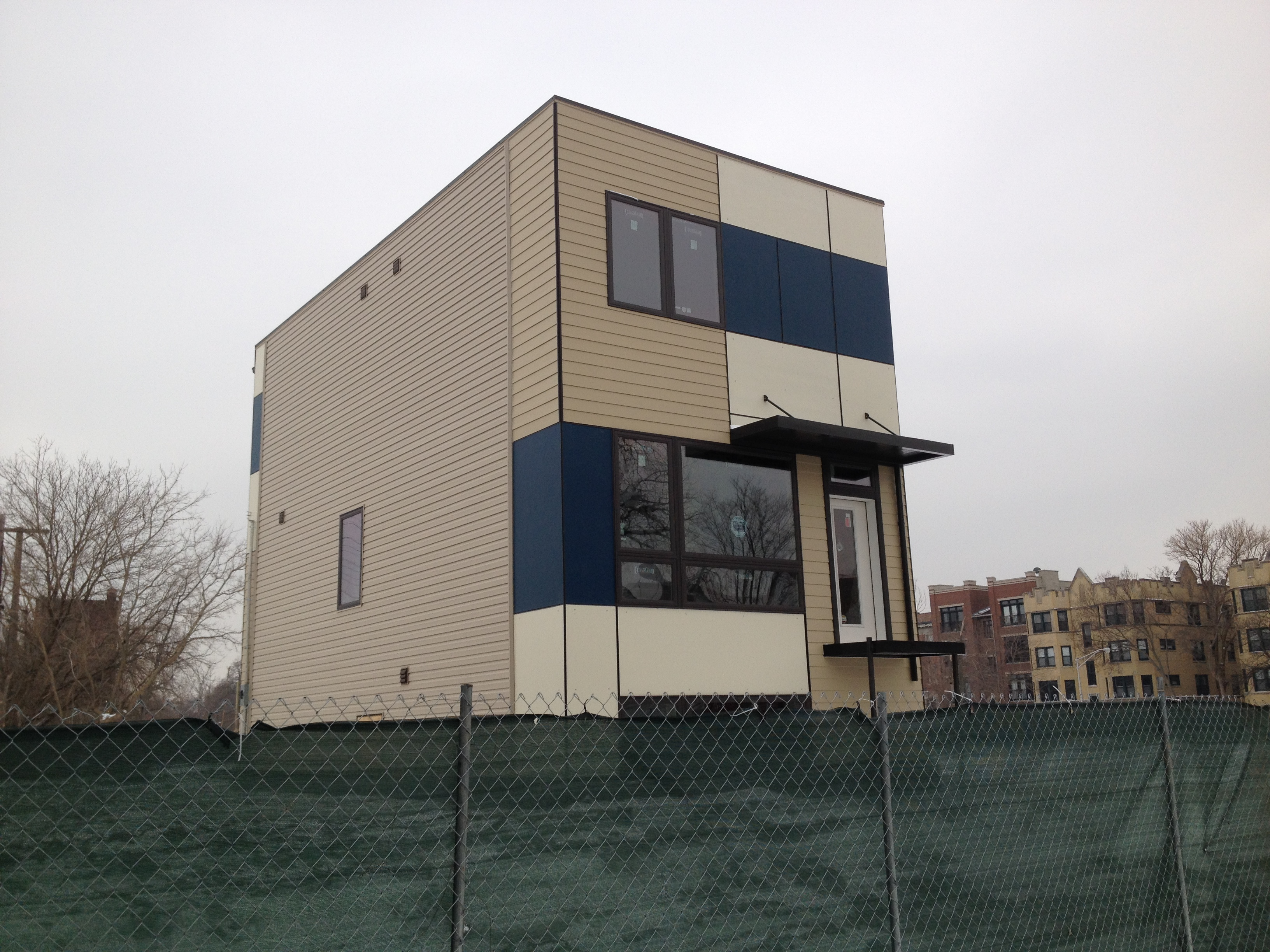 1361 East Marquette Road in the Woodlawn Neighborhood in Chicago. Currently Under Construction.