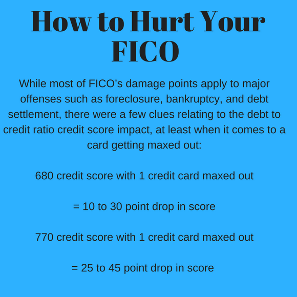 ways to hurt your FICO score