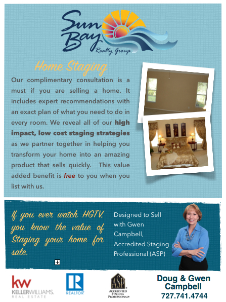 Home Staging Sun Bay Realty Group At Keller Williams Realty