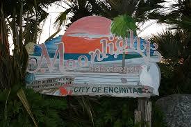 Moonlight Beach in Encinitas Sign