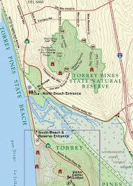 Map of Del Mar La jolla Torrey Pines Preserve San Diego