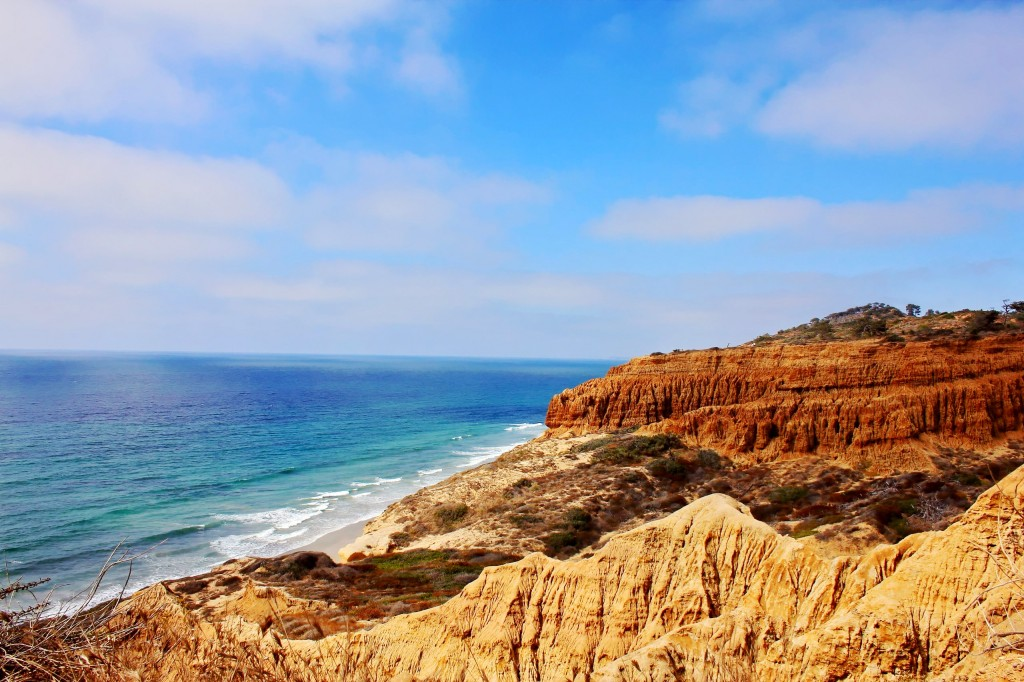 Coastline view from Torrey Pines Preserve Del Mar La Jolla Landmark San Diego California