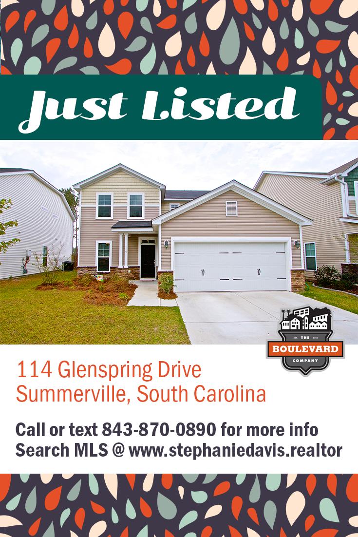 114 Glenspring Drive, Summerville SC