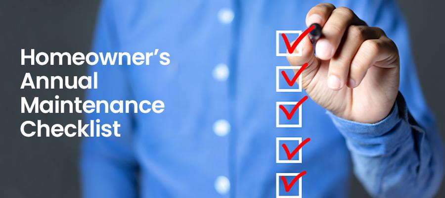 Homeowner's maintenance checklist