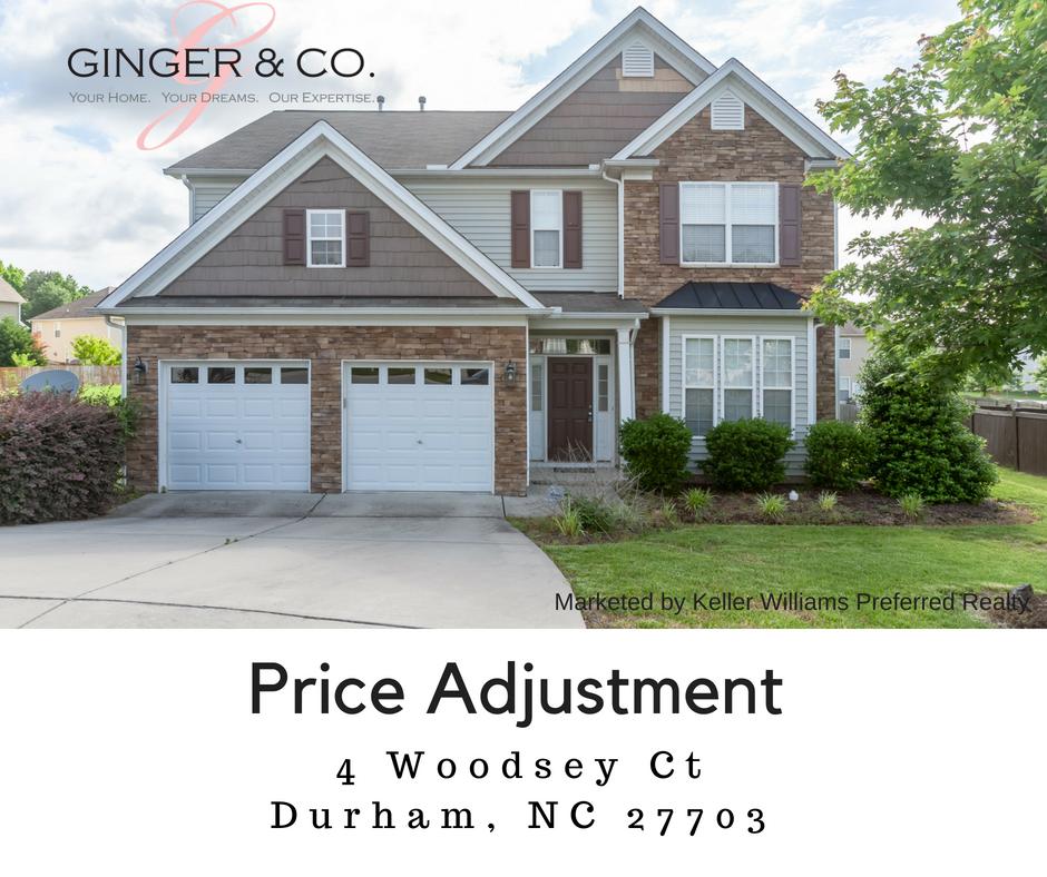 Price Improvement in Durham! - Ginger & Co