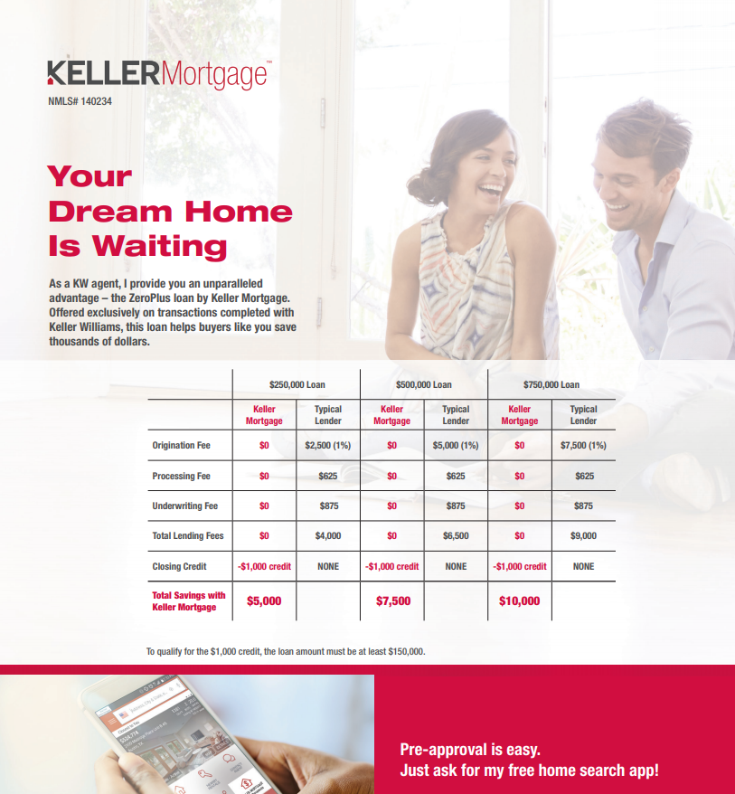 Keller Mortgage Zero-Plus Financing