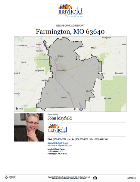 Farmington Neighborhood Report