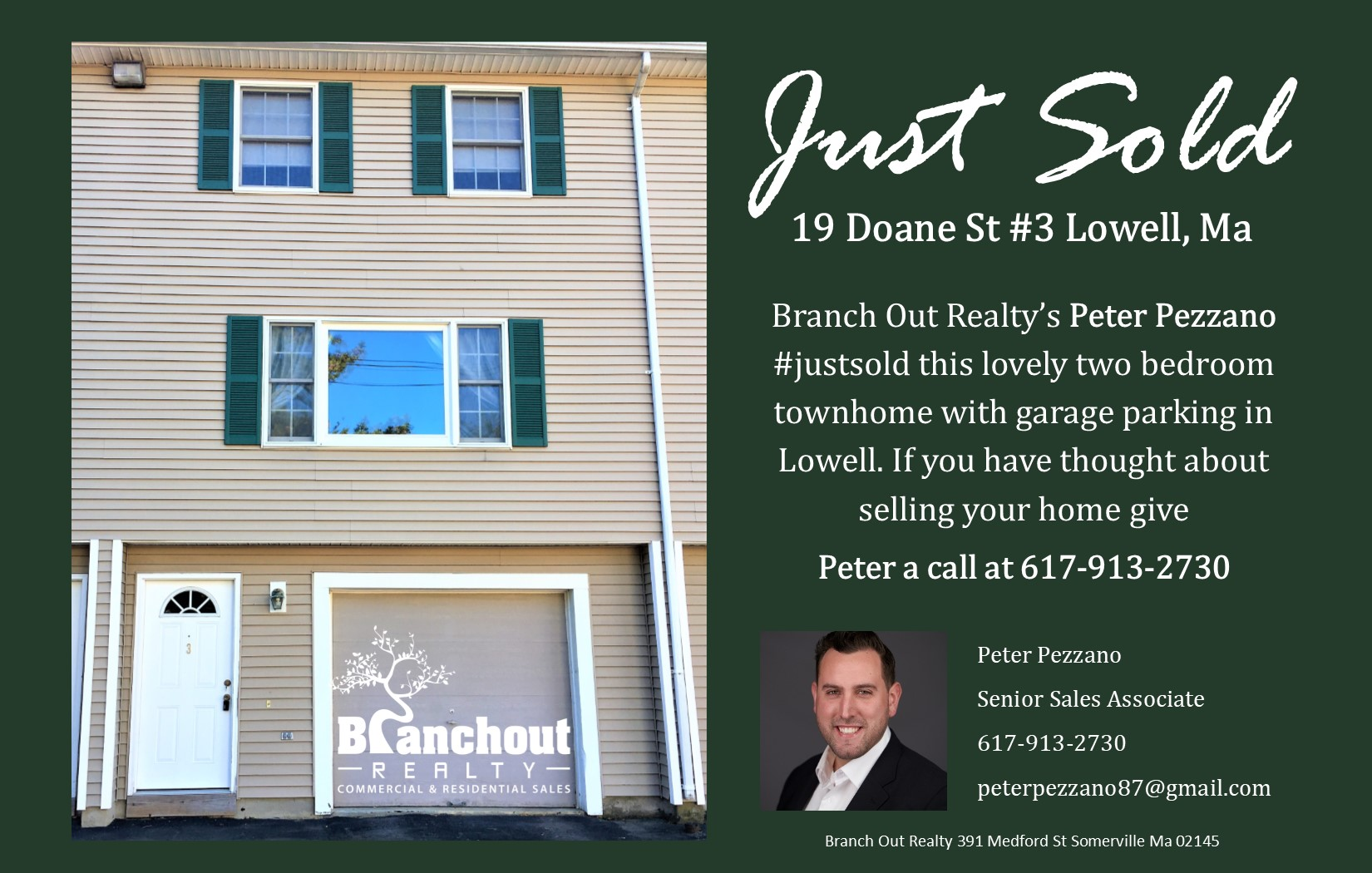 Just sold property in Lowell