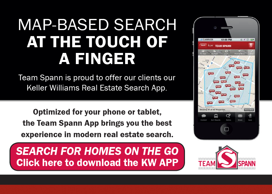 Download the Keller Williams Experience Realty Team Spann APP