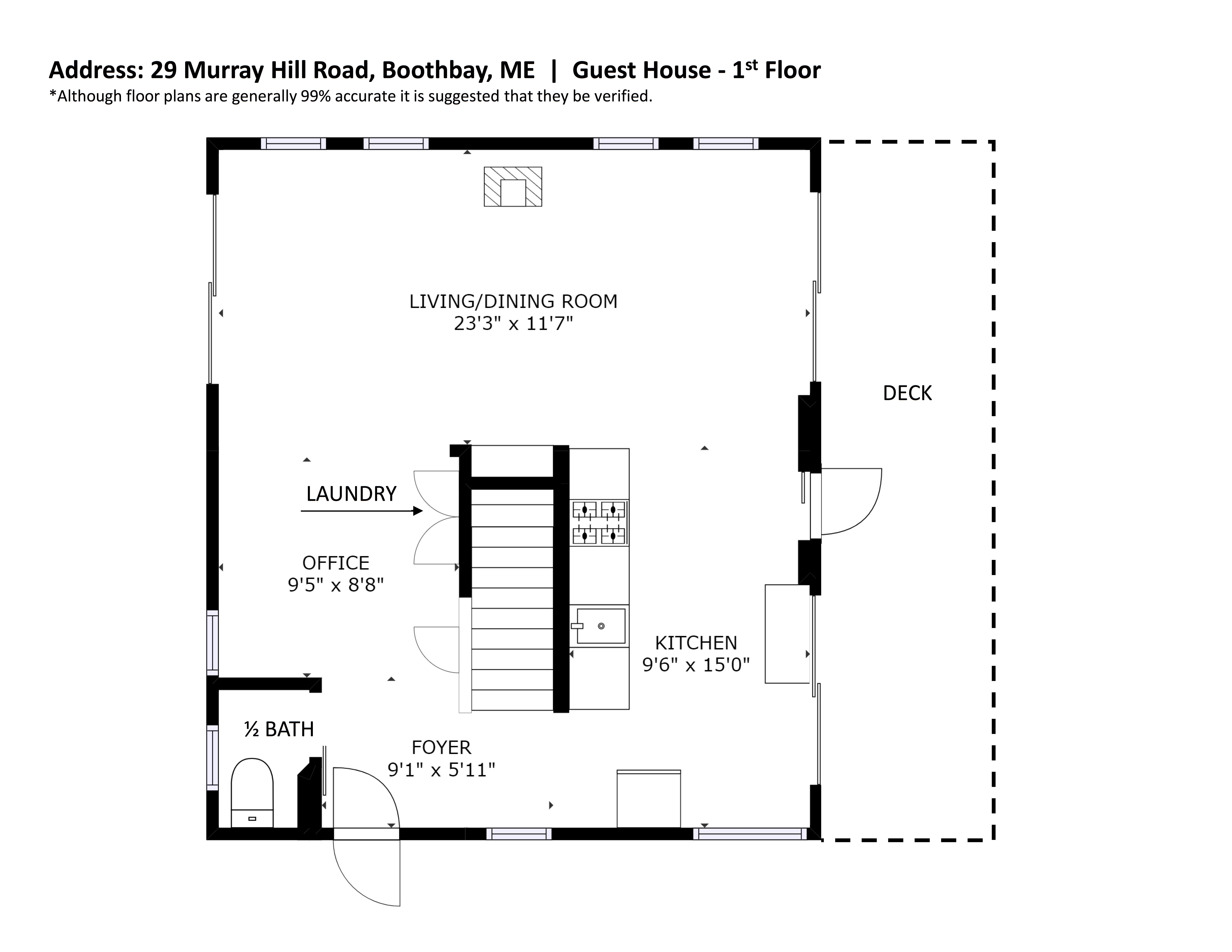 29 murray hill road east boothbay me guest house floor plan