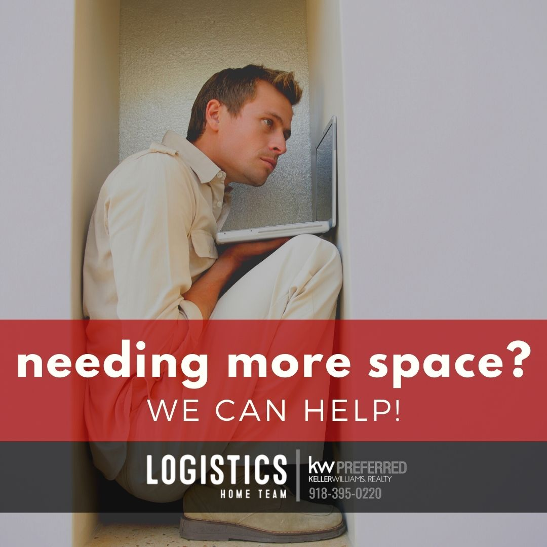 Needing more space in your home?  Looking for a larger home office?  Our team of professional and LOCAL real estate professionals are here to help.  Call Logistics Home Team with Keller Williams Realty Preferred.  We are your trusted Oklahoma real estate resource.