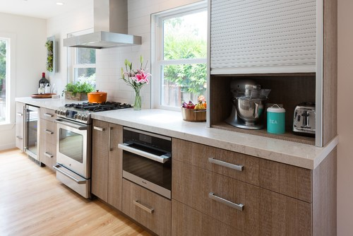 Appliances garages keep the necessities close but neat