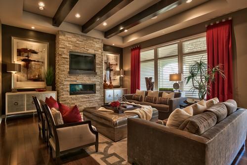 Warm color pallet in home design