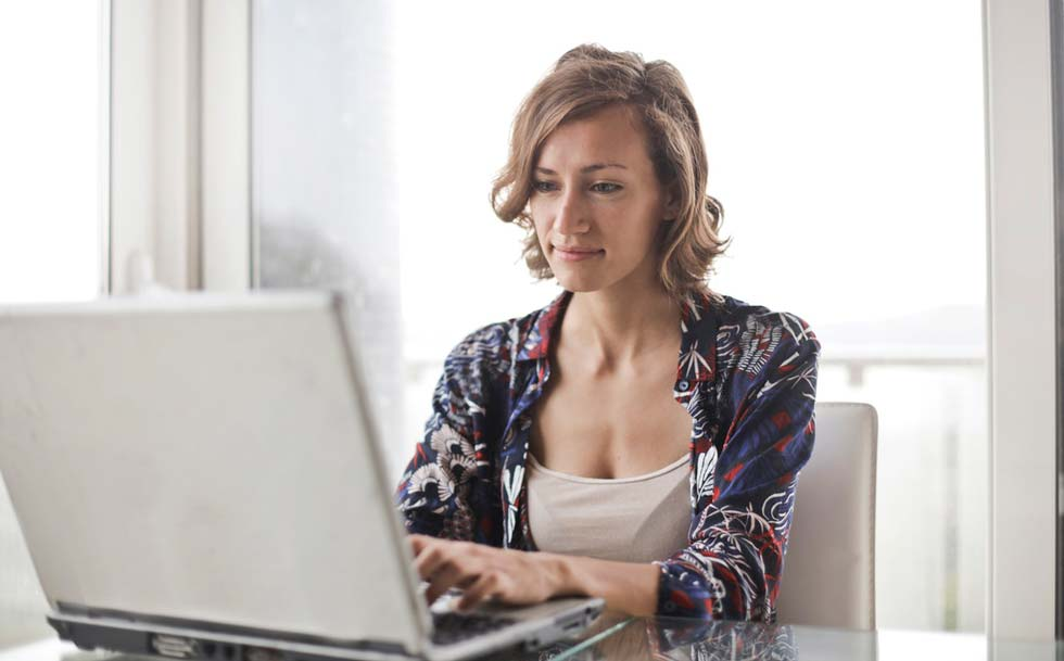 Home Buyer Searching for a home online