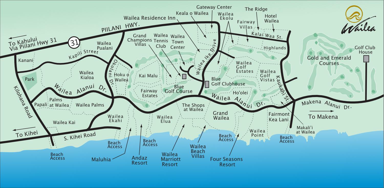 Kihei Town Map and Maui Hawaii Information
