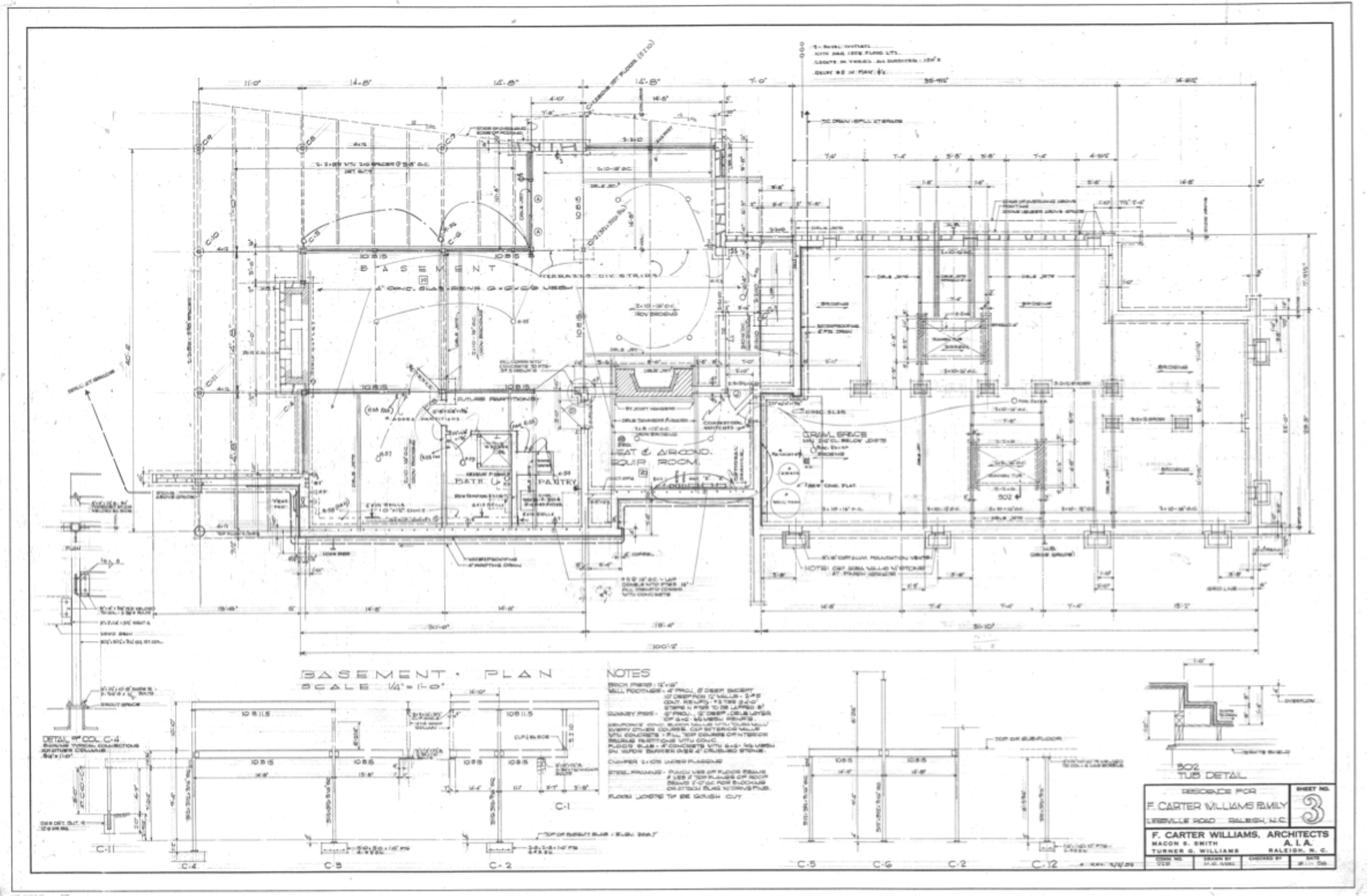 Basement ORIGINAL Plan from 1958