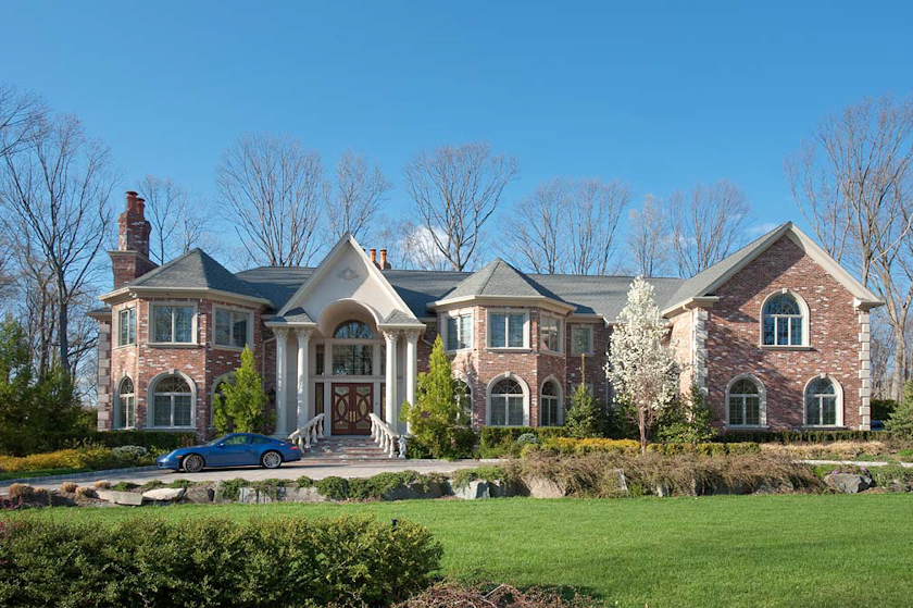 Luxury homes close to nyc edgewater tenafly cliffside for Luxury custom home designs
